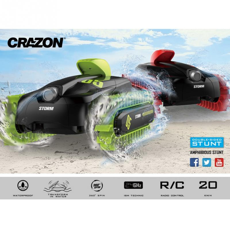 RC Vehicle Children Electric Race Stunt Car Remote Control Land Water Amphibious Off Road Deformable Car