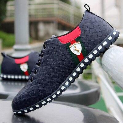 Juyouki Männliche Leder Casual Schuhe für Männer Leinwand Schuhe Outdoor Turnschuhe Air Mesh Wohnungen Atmungs Ferrary Schuhe Plus Größe 46