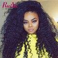 Llena Del Cordón Pelucas de Pelo Humano Para Las Mujeres Negras Brasileñas Onda de Agua del Frente del cordón Rizado Peluca Del Frente Del Cordón Pelucas de Pelo Humano Con El Bebé pelo