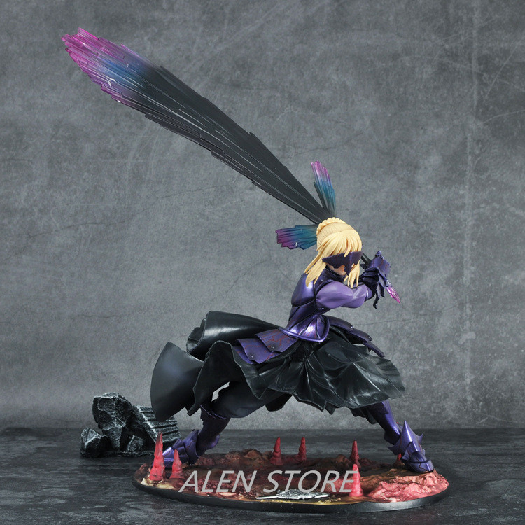 ALEN Action figure Fate/stay night Black Saber cartoon doll PVC 18cm box-packed japanese figurine world anime fate stay night zero saber alter vodigan ver 18cm mask hammer sword toys cartoon pvc action figure c100