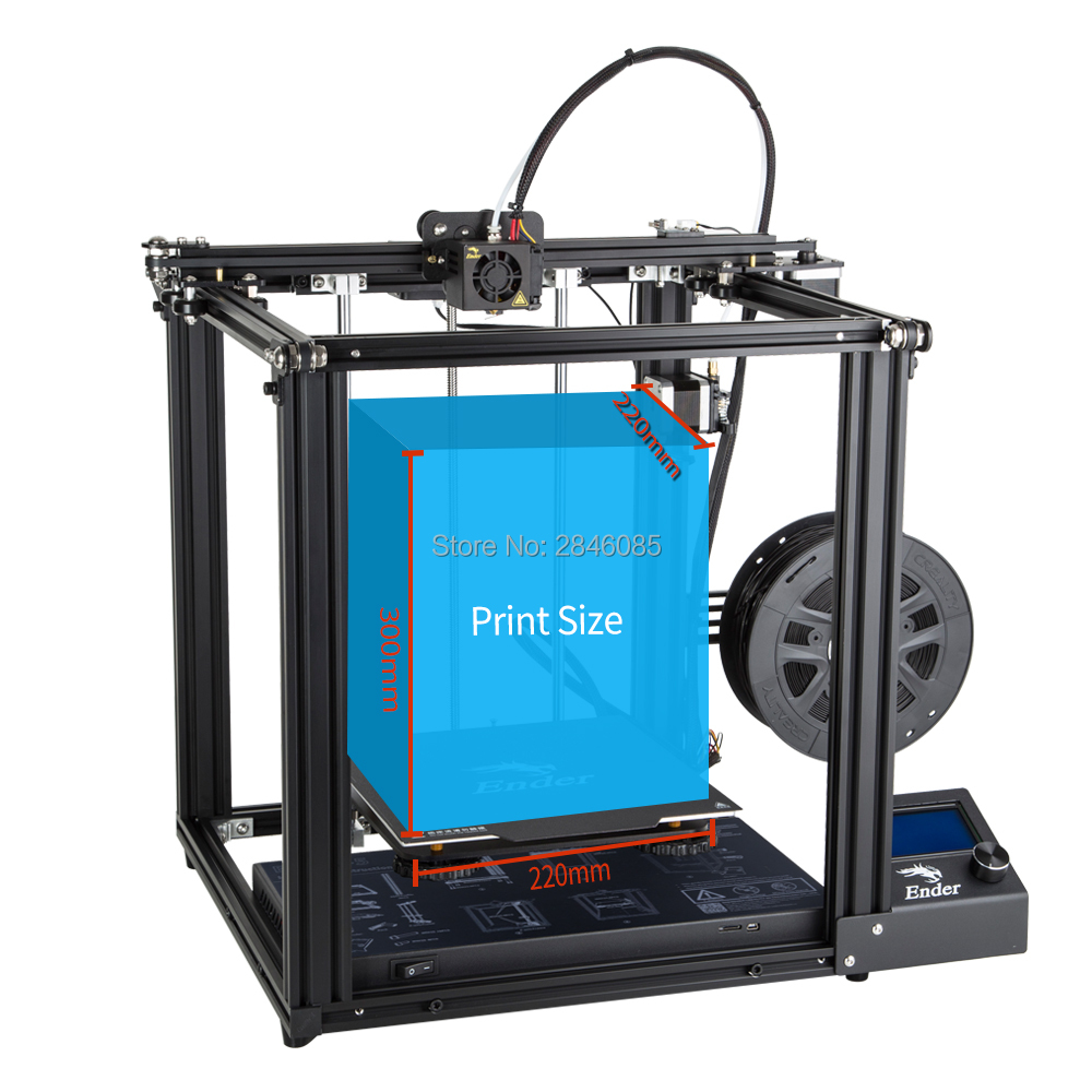 Image 4 - CREALITY 3D Printer Ender 5 Dual Y axis Motors Magnetic Build Plate Power off Resume Printing Enclosed Structure-in 3D Printers from Computer & Office
