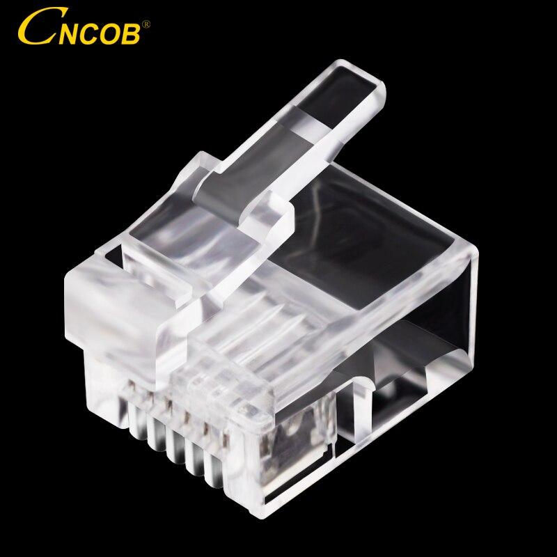 CNCOB 6p6c Américain ligne téléphonique cristal tête spécial équipement téléphonique ligne téléphonique connecteur