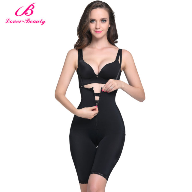 e53577e57b690 Lover Beauty Women s Shapewear Firm Control Body Briefer Slimmer Full Body  Shaper Slimming Bodysuits Waist Trainer With Zipper-A