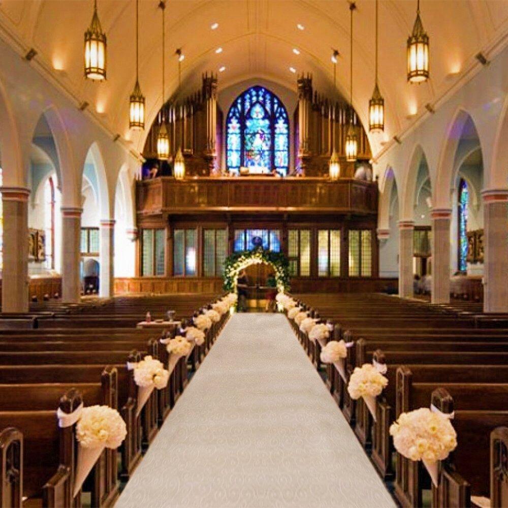 Wedding Altar Candles: White Wedding Carpet 30mx90cm Wedding Party Carpet Rug