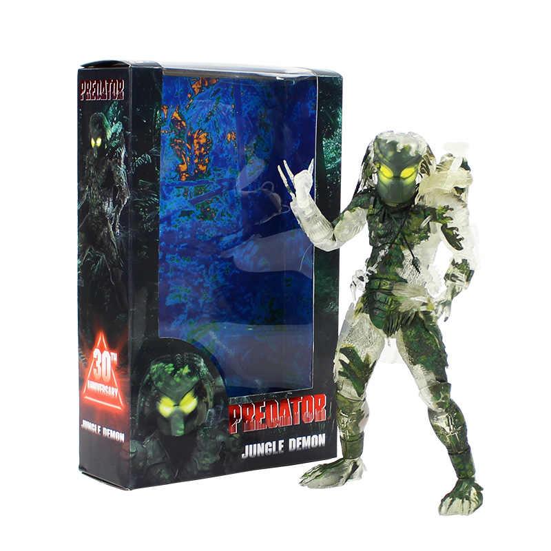 20 cm Anime Figuur Predator Jungle Hunter Demon PVC Action Figurine Figuur NECA 30TH Anniversary Pop Model Speelgoed