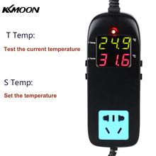AC 90V~250V Digital Display Breeding Temperature Controller LED thermometer Electronic Thermostat Thermocouple Thermostat Socket
