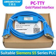 Amsamotion 6ES5 734-1BD20 кабель для Siemens S5 ПЛК серии Кабель для программирования PC-TTY Связь кабель PC TTY RS232 для S5
