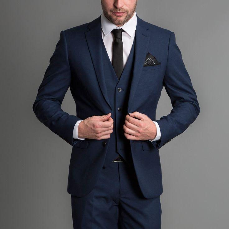 764c4124b7eb3 Iki Düğme Notch yaka Moda Serin Yüksek Kalite Slim Fit erkek Takım Elbise  Kostüm Yapılmış Smokin Handsome3 Adet (Ceket + pantolon + Yelek + Kravat)