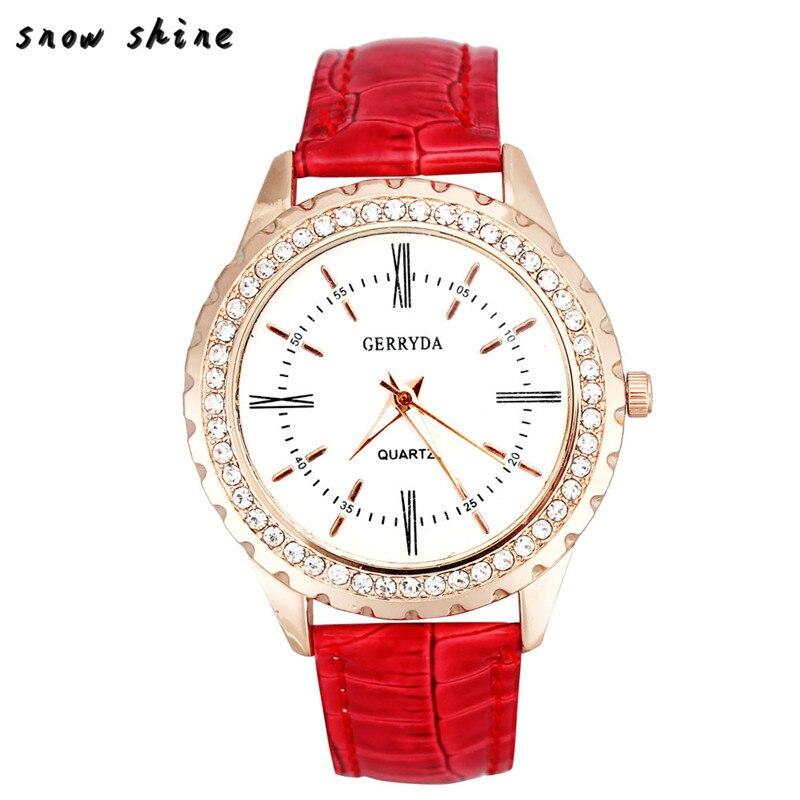 snowshine 10xin Women Business Casual Quartz font b Watch b font free shipping