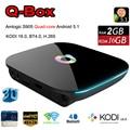 Luxo Android 5.1 TV Box Amlogic S905 Quad Core 64-bit 2 G 16 G inteligente Mini PC 4 K 3D Media Player Kodi 2.4 G / 5 G wi fi BT4.0 Gigabit