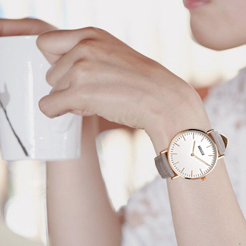 BAOGELA Ladies Watch Simple Two-pin Quartz Watch Ultra-thin Dial Fashionable Waterproof Wrist Watch fashionable water resistant glow in dark wrist watch black white 1 x lr626