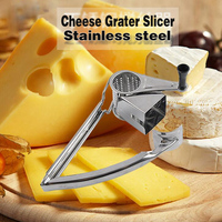 2016 New Stainless Steel Rotary Cheese Grater Safe Fondue Chocolate Lemon Hand Held Ginger Graters Kitchen