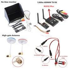 Sistema Combo FPV 5.8 Ghz 5.8G 600 mw Transmisor TX TS832 RC832 Plus Receptor RX No azul monitor para Gopro SJ4000 QAV250 DJI