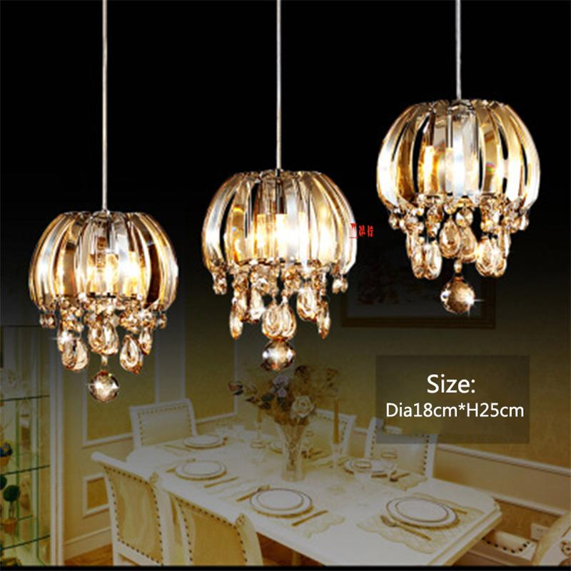 Modern LED 1pc Restaurant Lamp Chandelier Modern Creative Single-head Pendant Lamp Dining Room Corridor Bar Crystal Chandeliers modern crystal chandelier hanging lighting birdcage chandeliers light for living room bedroom dining room restaurant decoration