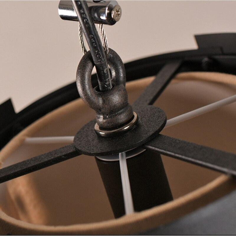 Ретро промышленный Лофт черный металлический подвесной светильник винтажный креативный английский буквенный Бар Кафе подвесной светильник освещение PL628 - 5