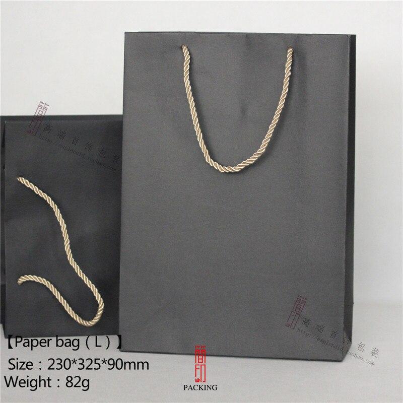 12 шт./компл. черный Бумага Сумки для упаковки ювелирных изделий модный подарок Бумага С ...