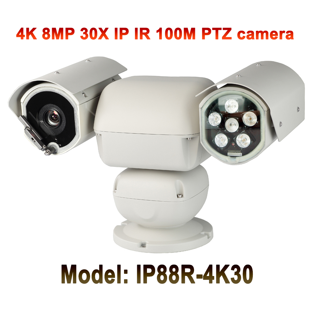 medium resolution of ultra hd h 265 8mp ir 100m ip camera 4k ptz heavy duty 30x auto zoom starlight motion detection onvif pelco d p protocol