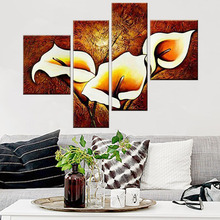 DIY 5D Calla Lily Flower Diamond Embroidery Painting Full Drill Round Diamond Picture Cross Stitch Kit Home Decor Painting calla lily 5d diy diamond painting diy diamond embroidery flower full diamond inlay home decor