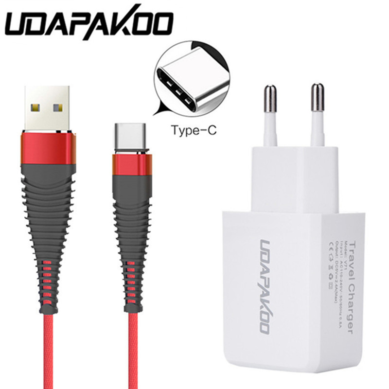 Professional Sale Eu Usb Adapter Type C Usb Fast Charger Cords For Huawei P9 P10 P20 Nova 2 Honor Note 10 Zenfone 5 Ze620kl Lg G5 G6 V20 V30 Phone To Be Renowned Both At Home And Abroad For Exquisite Workmanship, Skillful Knitting And Elegant Design