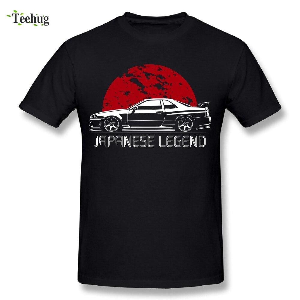 Cool hommes RTM Voiture T-Shirt Légende Japonaise Skyline T-Shirt Élégant En Gros