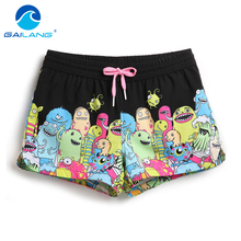 Gailang Brand Women Boxers Trunks Casual Active Bermudas Workout Shorts Woman Beach Boardshorts Quick Drying Swimwear Swimsuits