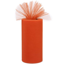 1 Tulle Roll Decoration for Tutu Banquet Wedding Craft DIY 25 yards - Orange(China)