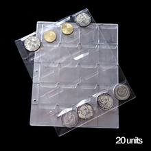 New 10Pages/Lot 20 pices/Page general transparent PVC sheets for coins