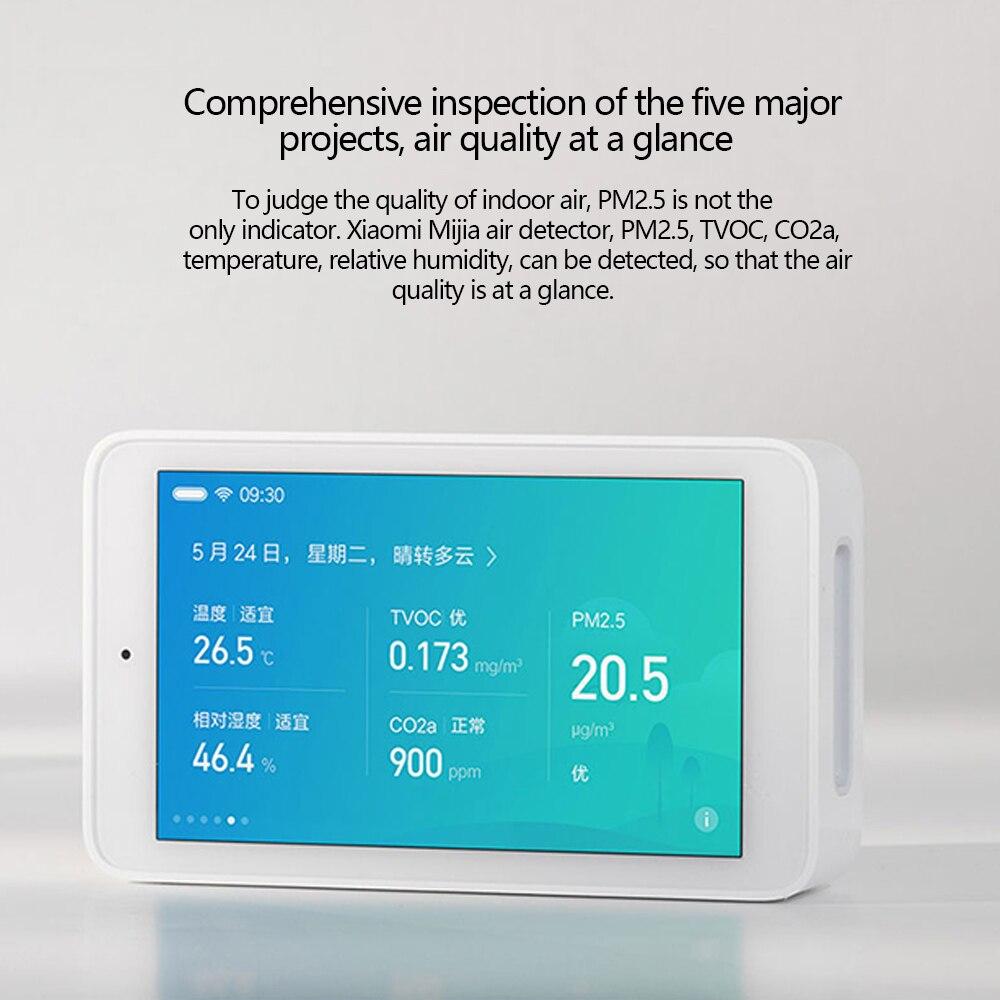 Détecteur d'air d'origine Xiaomi Mijia capteur de haute précision 3.97 'écran tactile Interface USB capteur d'humidité PM2.5 CO2a-in Télécommande connectée from Electronique    2
