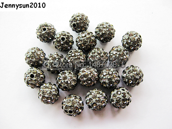 Amicable 12mm Grey Top Quality Czech Crystal Rhinestones Pave Clay Round Disco Ball Spacer Beads For Jewelry 100pcs Pack Beads & Jewelry Making