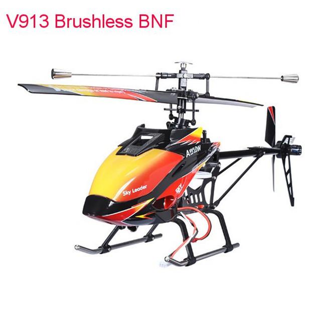 Original WLtoys V913 Sin Escobillas Versión 2.4G 4CH RC Helicóptero BNF Acción 3D Volando Lado Arriba Abajo Adelante Hacia Atrás A la Derecha regalo