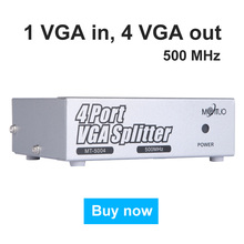 Discount! 500MHz VGA Splitter Distributor 1 in 4 Out High Resolution 2048*1536 Support big Widescreen LCD Monitors Projector MT-VIKI 5004