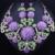 FARLENA Requintado 3D flor da Jóia Do Casamento colar brincos set strass cristal cheio africano conjuntos de jóias de noiva