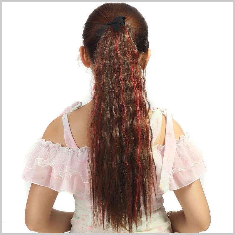 Good quality hair accessories 65g 55cm hair jewelry extension synthetic ombre colors hairwear for womens ponytail