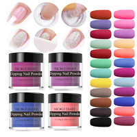 NICOLE DIARY 10g Dipping Nail Powder set Nail Glitter Powder Holographic Manicure Dry Chrome Powder for Nail Art Gel Decoration