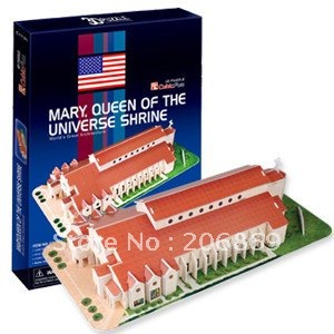 CubicFun 3D puzzle paper model United States Marie universal Church New Edition educational creat decoration item children toy petronas towers cubicfun 3d educational puzzle paper