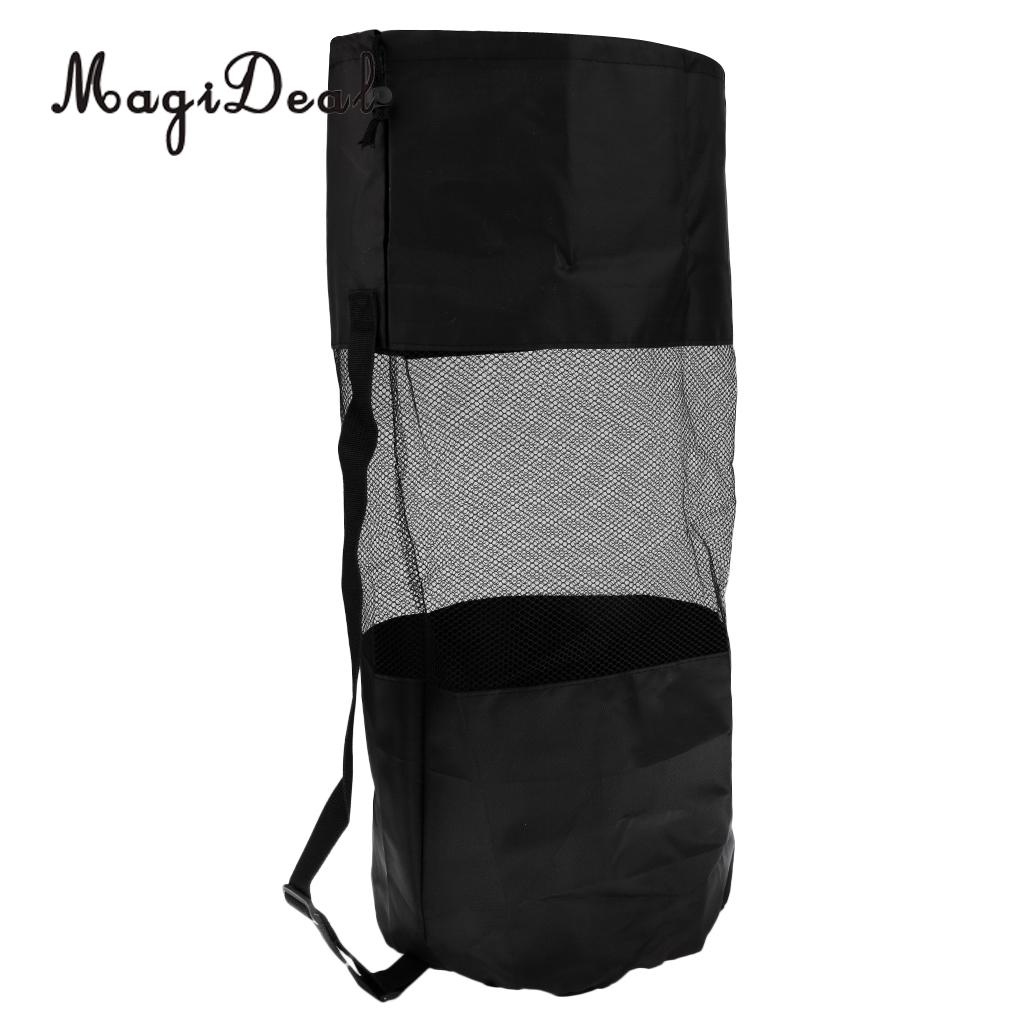 MagiDeal Hign Quality 1Pc Scuba Swimming Dive Gear Diving Snorkelling Camp Canoe Kayak Bag Nylon Mesh Sling Bag Large Black