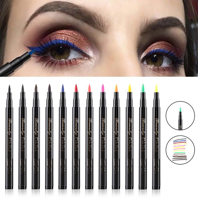 1PC Fast Dry Long Lasting Waterproof Colorful Liquid Eyeliner