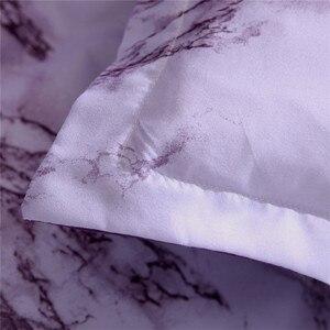 Image 4 - Juego de funda de edredón de mármol simple, funda de edredón doble tamaño King con funda de almohada, tela de microfibra de poliéster, edredón suave de lujo