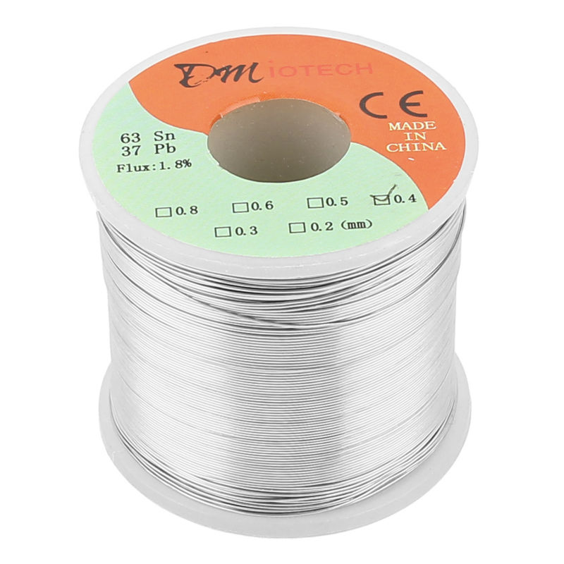 Welding Iron Wire Reel 400g FLUX 1.8% 0.4mm 63/37 Tin Lead Line Rosin Core Flux Solder Soldering Wire Roll цена