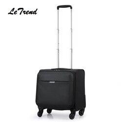 Business16/18 cal biznes Oxford podróży wielofunkcyjny wózek na bagaż mężczyźni duża pojemność Rolling bagażu podróży