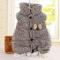 Marca 2015 Otoño Invierno Estampado de Leopardo de Moda Chaleco de Algodón Acolchado Bebé Recién Nacido Infantil de Las Muchachas Del Cabrito Del Cordón de Empalme Chaleco Chaqueta G79
