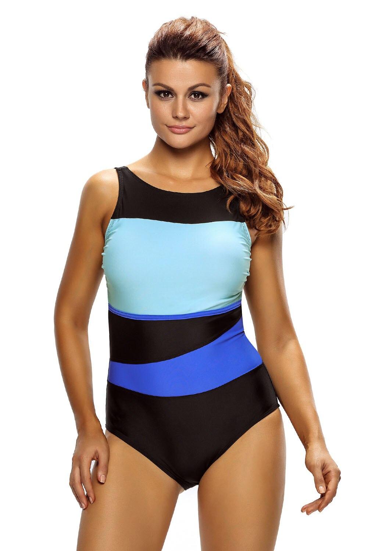 Stylish Women Color Block Accent Hollow-out One Piece Swimsuit Bikini Teddy Swimwear Bathingsuit Beachwear Maillot Wear Summer