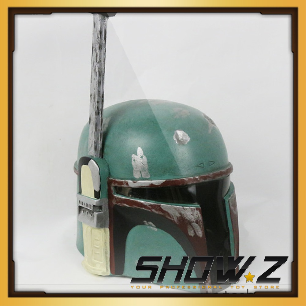 цена на [Show.Z Store]Custom Made Star Wars Bounty Hunter Boba Fett Green Helmet Cosplay Props Halloween Helmet