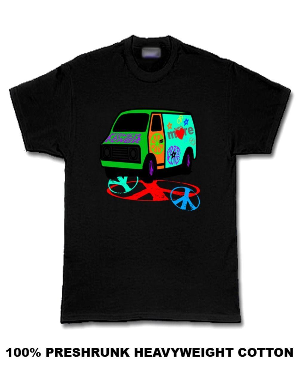 More Love 70s Van for black new age hippie T Shirt Men'S T-Shirts Short Sleeve O-Neck Cotton Men'S T-Shirt Fashion