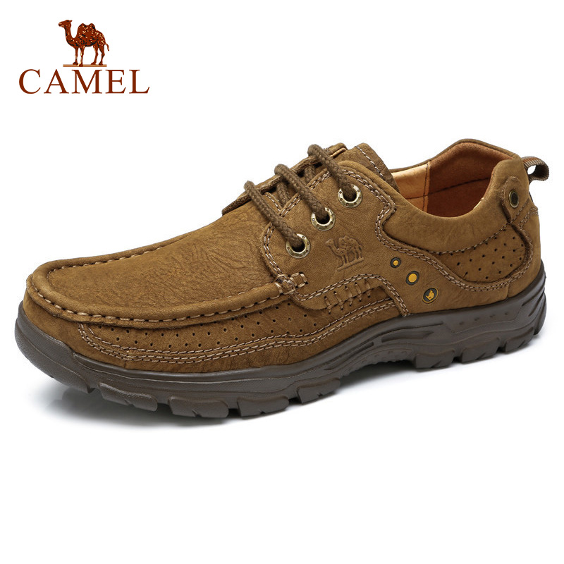 CAMEL Genuine   Leather   Male Men Shoes Autumn Fashion Business Casual Men Dress Shoes   Suede   Soft Footwear mocassim masculino couro