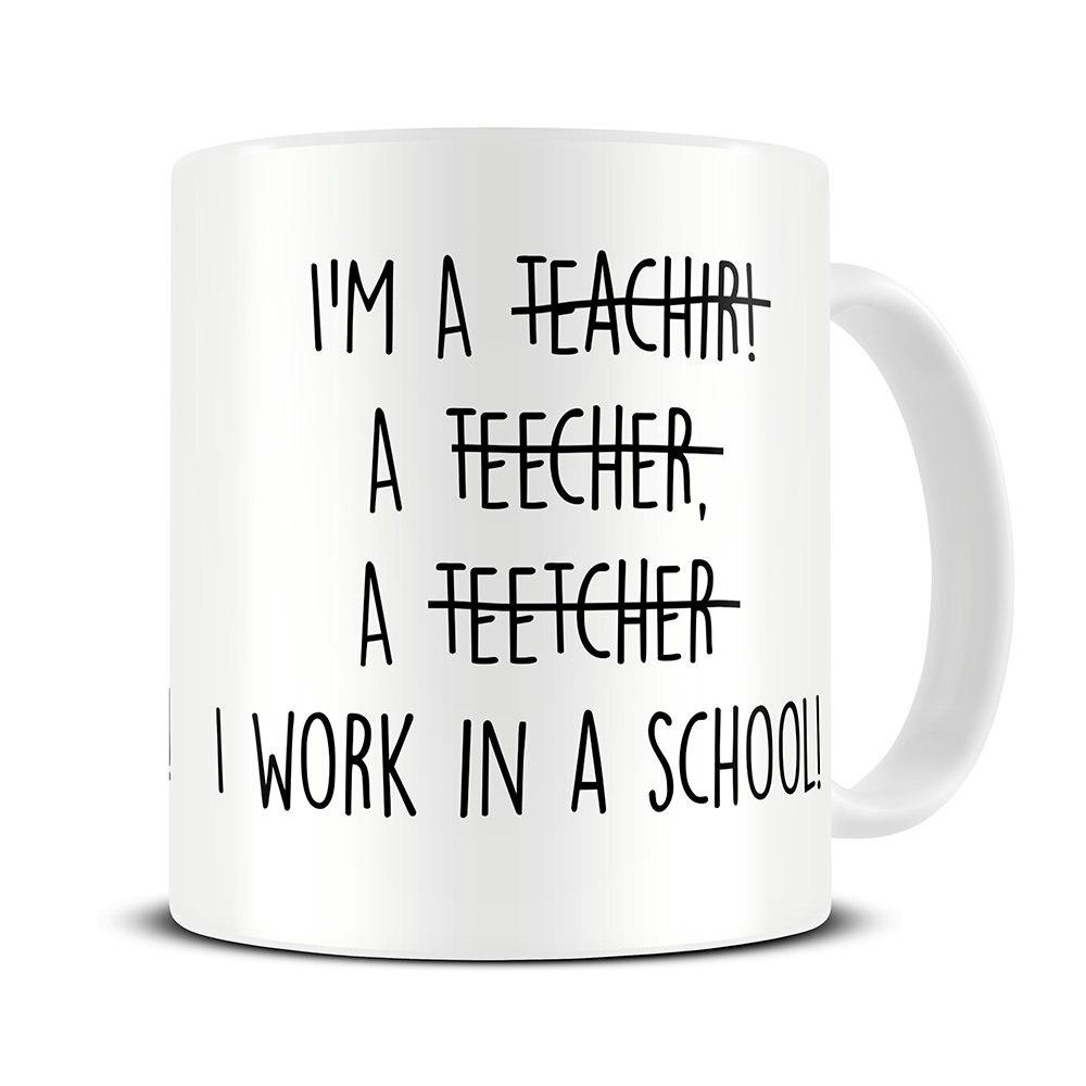 Teacher Mug Teacher Spelling Mug Teacher Gifts Coffee Mugs