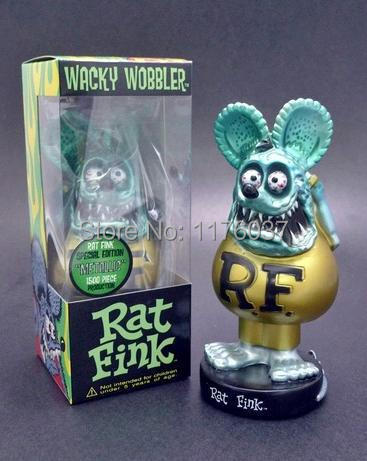 Rat Fink Limited Edition Funko Wacky Wobbler Doll Blue Gold 18CM