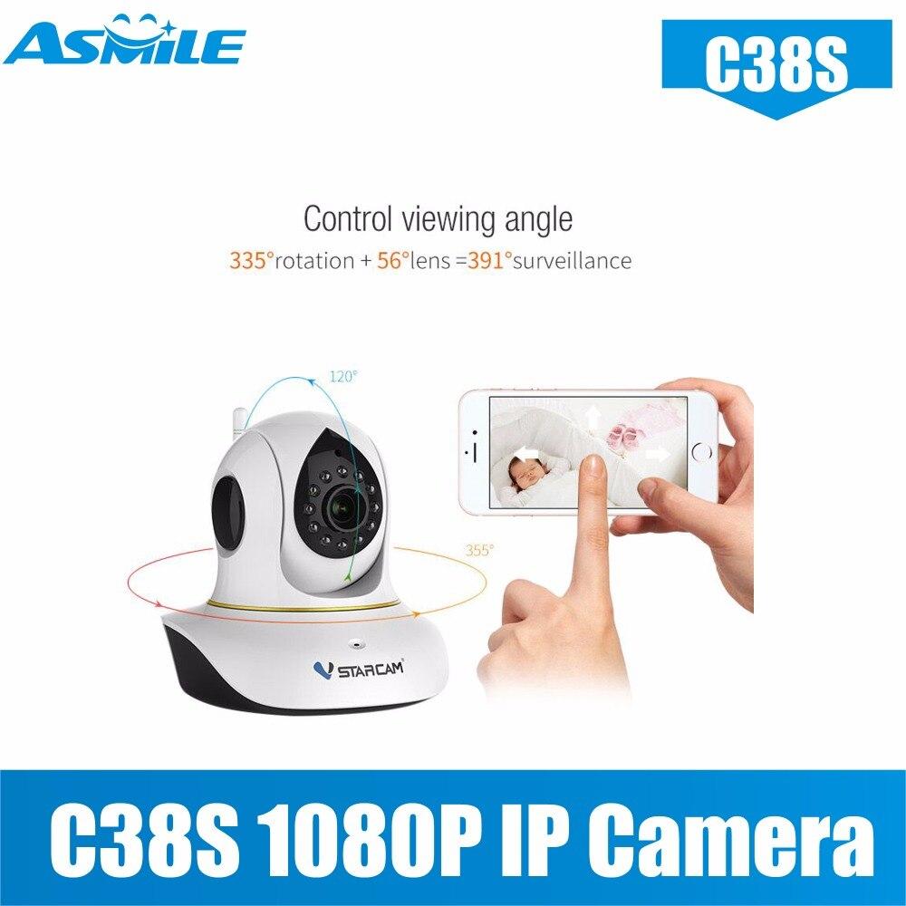 C38s 360 kamera wifi kamera 1080 P Vstarcam nachtsicht 2.0MP Home Security innen wifi kamera 128G tf-karte vstarcam