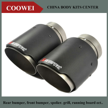 2PCS 76mm Inlet 89mm Outlet Akrapovic exhaust tip  Universal Carbon Fiber Car Exhaust Pipe Tail Muffler Tip bmw f30 akrapovic auspuffblende