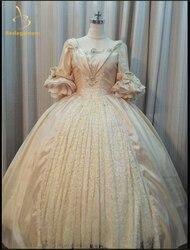 Bealegantom quinceanera vestidos 2021 mangas compridas vestidos de baile frisado cristais rendas até doce 16 vestidos de 15 anos qa1167